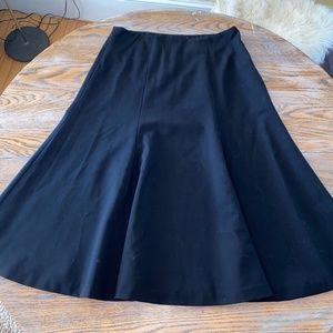 LAUREN lined 96%wpp; A-line side zip skirt/10